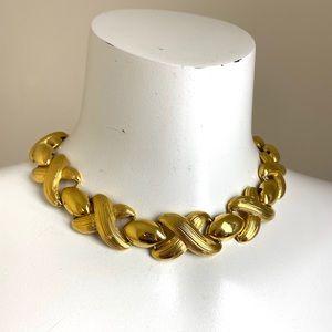 Vintage Gold Butler Choker Length Necklace